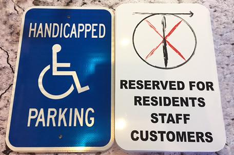 Custom Parking Signs Northshore Sign Shop