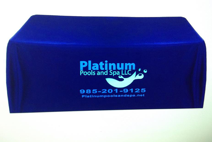 Custom Table Throws Fast   Northshore Sign Shop