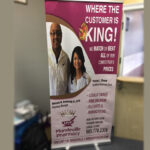 Retractable Vinyl Banner with Stand